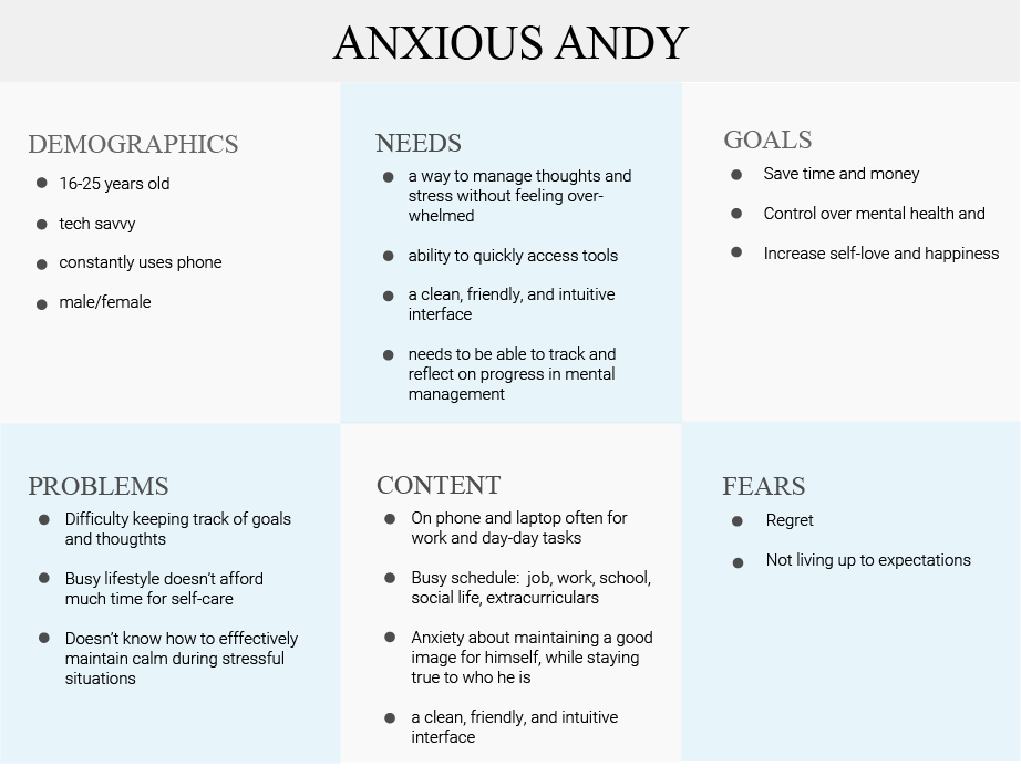 ANXIOUS ANDY PERSONA