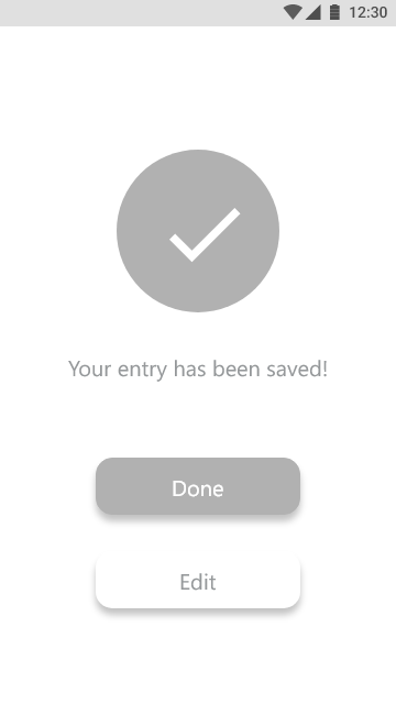 Entry save confirmation